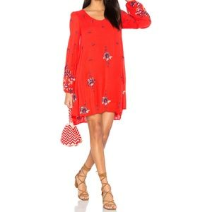 NWT Free People Oxford Embroidered Mini Dress